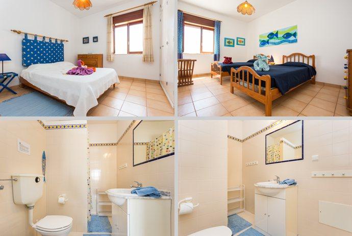 Appartement TLA Compositie Slaapkamers en Badkamer in Lagos, Algarve Portugal