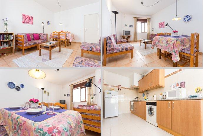 Appartement TLA Compositie Woonkamer en Keuken in Lagos, Algarve Portugal