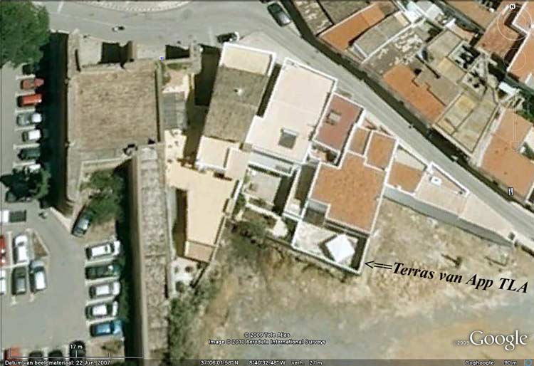 Appartement TLB Google Beeld van het terras van Appartement TLA op de beganegrond in Lagos, Algarve Portugal