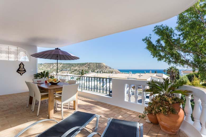 Appartement AMD, Zeezicht vanaf het Balkon in Praia da Luz, Algarve Portugal