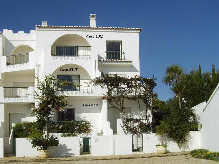 Casa BLW, Portugese Vakantie woning, buitenzijde samen met Casa CRL, Praia da Luz, Algarve Portugal