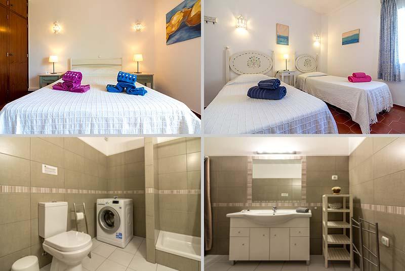 Casa BLW, Geschakeld Portugees Vakantie huisje, Compositie Slaapkamers en Badkamer in Praia da Luz, Algarve Portugal
