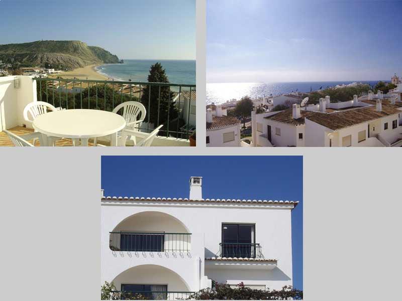 Casa CRL, Portugees Vakantie huisje Compositie Balkon en het Uitzicht in Praia da Luz, Algarve Portugal