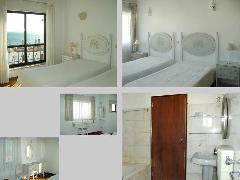 Casa CRL, Portugees Vakantie huisje, Compositie Slaapkamers en Badkamer in Praia da Luz, Algarve Portugal