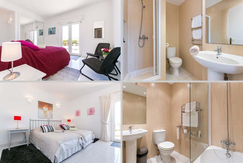 Casa JHZ, Compositie van Slaapkamers Badkamers Beganegrond Figueira - Salema - Budens, Algarve Portugal