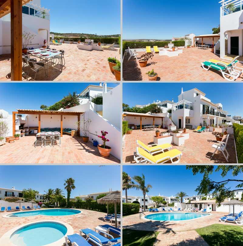 Casa JHZ, Compositie van Terras met BBQ Loungehoek Figueira - Salema - Budens, Algarve Portugal