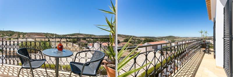 Casa JHZ, Compositie van Balkon woonkamer Figueira - Salema - Budens, Algarve Portugal