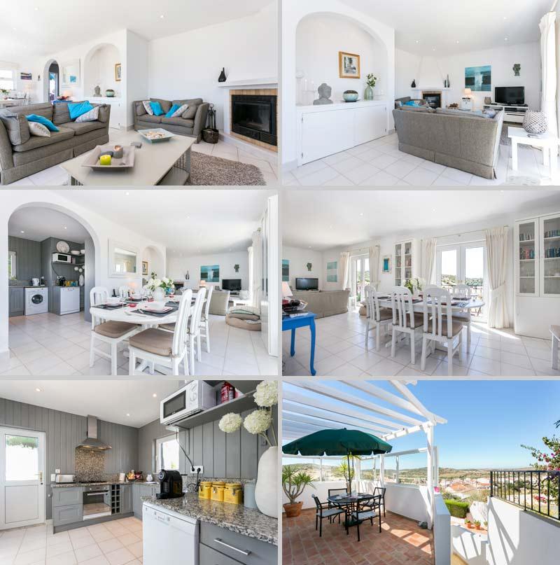 Casa JHZ, Compositie Casa JHZ Woonkamer en Keuken met Ontbijtbalkon in Figueira - Salema - Budens, Algarve Portugal