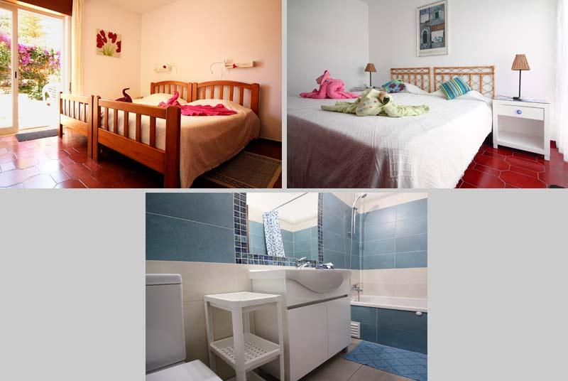 Casa TRP, Townhouse in Praia da Luz, Algarve, Portugal - Composition Bedrooms and Bathroom