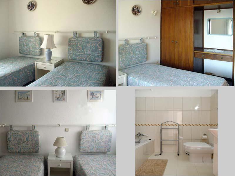 Casa CLD, Portugese Vakantie woning, Compositie Slaapkamers en Badkmaers in Praia da Luz, Algarve Portugal