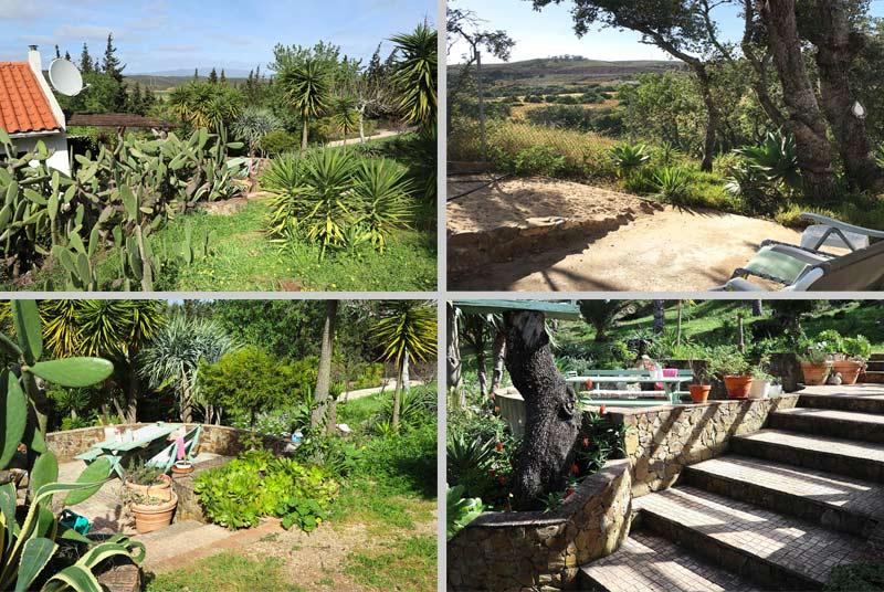 Casinha APP, vrijstaand vakantiehuis, Compositie Uitzicht en Terras in Odiáxere Lagos, Algarve Portugal