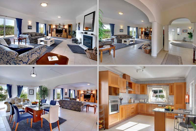 Villa CSB Compositie Woonkamer keuken, Lagos Algarve Portugal