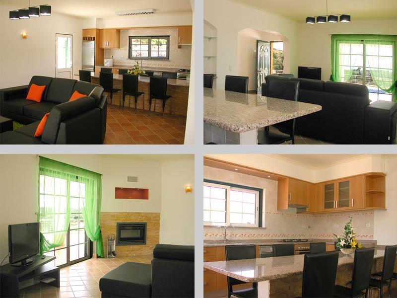 Villa JPM Woonkamer-keuken Cotifo Odiáxere, Algarve Portugal