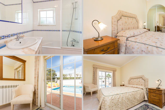 Villa MLG Compositie Hoofdslaapkamer Badkamer en-suite, Budens, Algarve Portugal