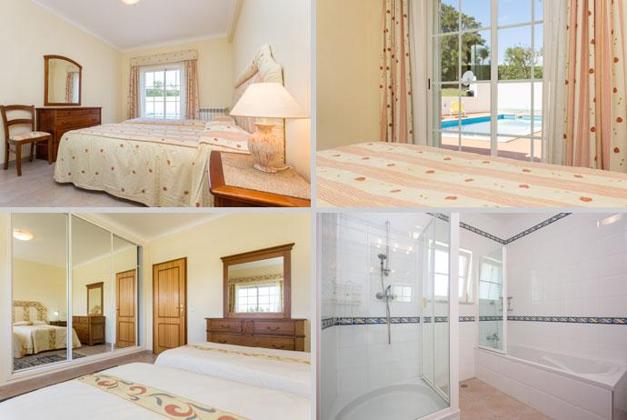 Villa MLG Compositie Slaapkamers en Badkamers, Budens Algarve Portugal