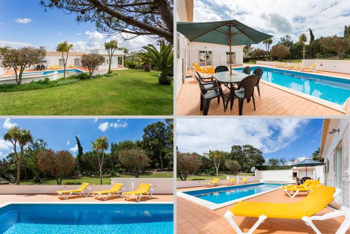 Villa MLG Compositie Zwembad en Omgeving in Budens, Algarve Portugal