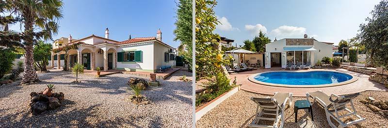 Villa PHL Compositie Voorkant en Achterkant in Lagos, Atalaia in de Algarve, Portugal