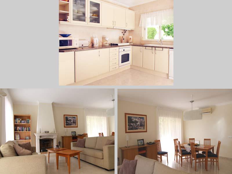 Villa QRD Compositie Huiskamer en Keuken, Lagos, Algarve, Portugal
