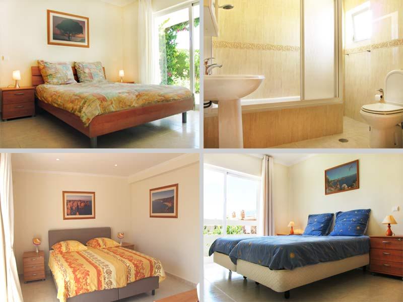 Villa QRD Compositie Slaapkamers en Badkamers, Lagos, Algarve, Portugal